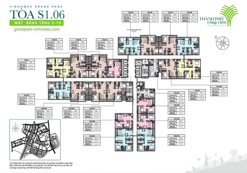 tòa s106 tầng 3-10