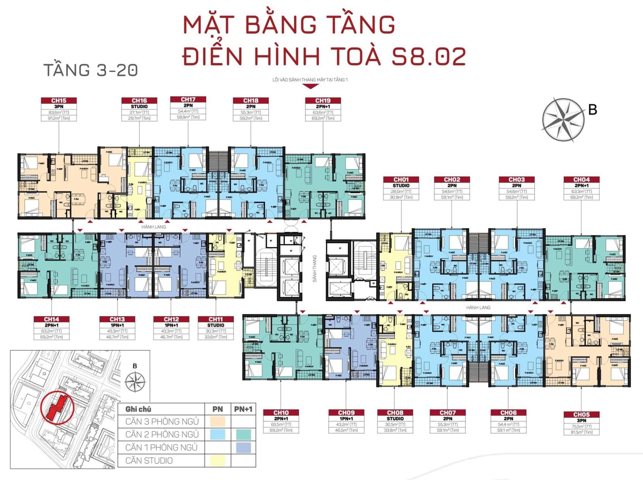 layout tòa s802